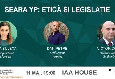 IAA Young Professionals Romania organizează  Seara YP de Etică și Legislație în MarComm