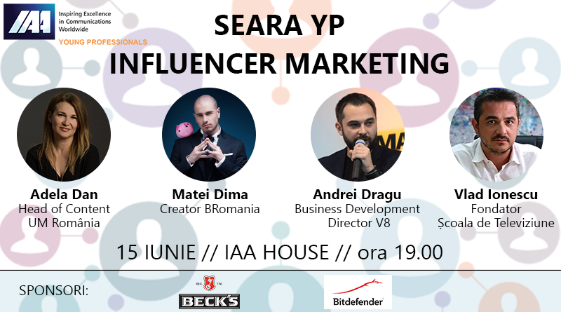 O nouă seară YP. Seara Influencer Marketing