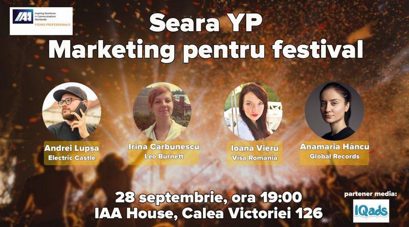 IAA Young Professionals organizează Seara YP dedicată Marketingului pentru festival