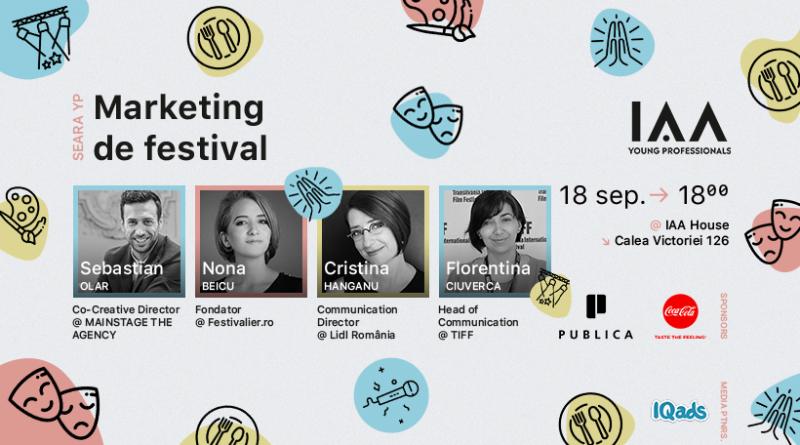 Seara YP dedicată Marketingului de Festival se întoarce cu ediţia 2018. Campaniile celor mai mari festivaluri din țară, dezbătute la eveniment